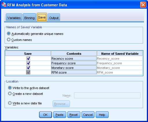 notes on rfm analysis Rfm analysis is a customer segmentation technique that uses past  note that  you can use quintiles (five equal groups) for increased.