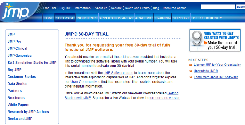Try JMP for free in steps 1-2-3 – DECISION STATS