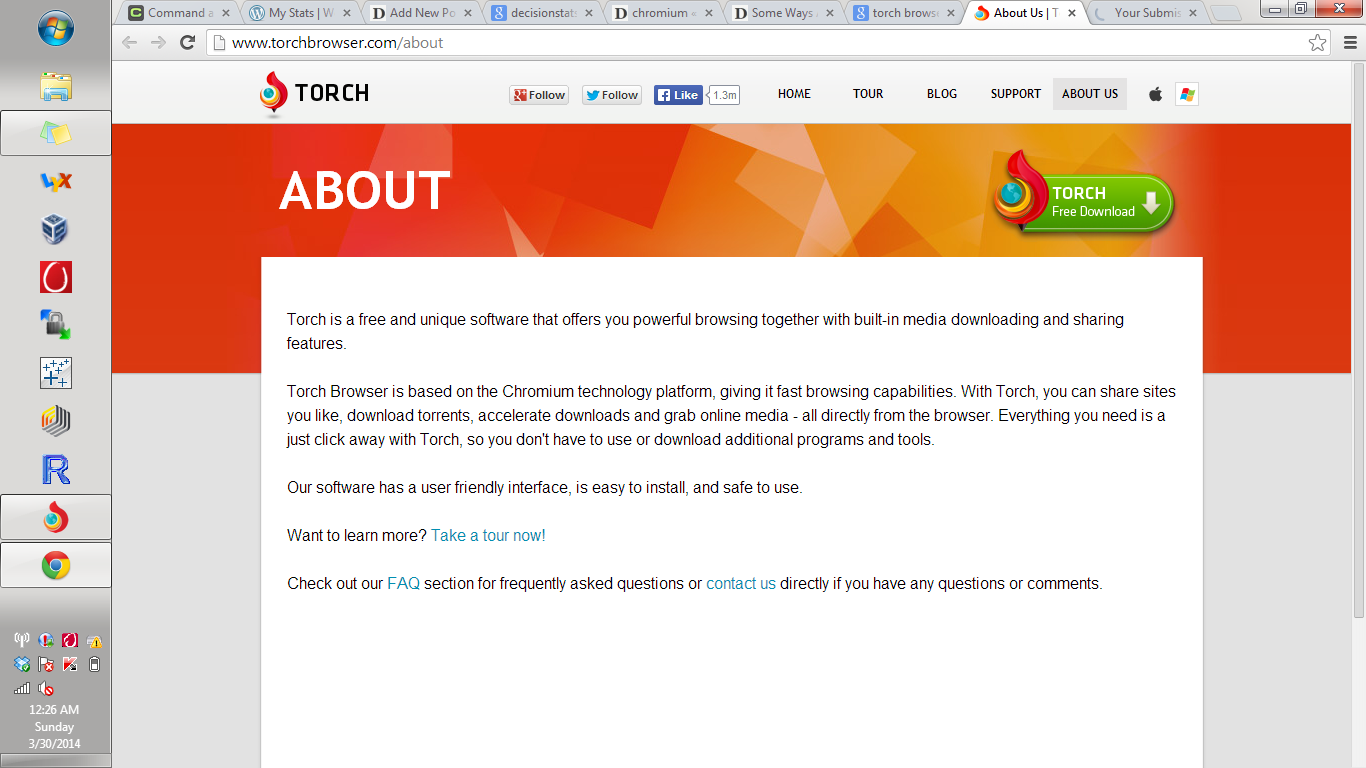 Torch Browser hits 10 million users – DECISION STATS