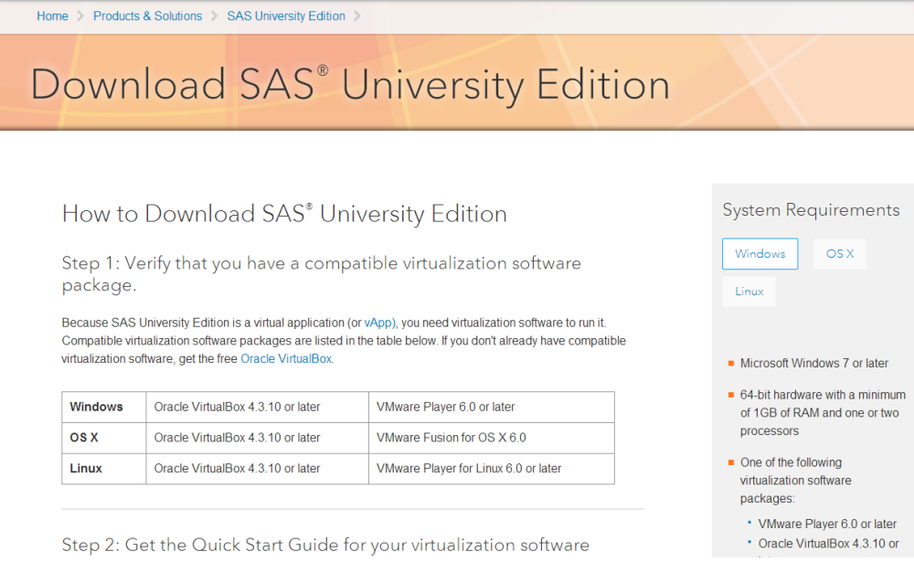 SAS makes it free to learn SAS